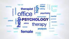 心理学疗法帮助办公室心理学家精神病学女性治疗师忠告精神疗法专业生气蓬勃的词 股票视频