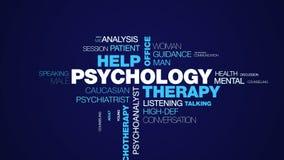 心理学疗法帮助办公室心理学家精神病学女性治疗师忠告精神疗法专业生气蓬勃的词 库存例证