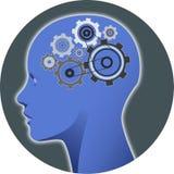 心理学头脑齿轮 图库摄影