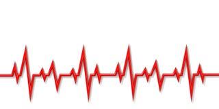 心电图线3D 向量例证