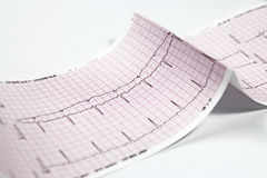 心电图,重点EKG测试 免版税库存图片