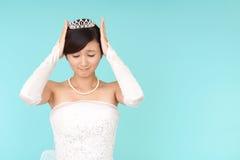 心神不安的新娘 免版税库存图片
