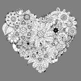 心脏乱画 向量例证