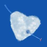 心脏云彩 库存图片