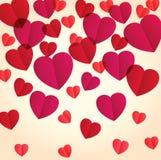 心脏五彩纸屑 免版税图库摄影