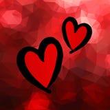 心脏传染媒介红色天标志元素爱象设计颜色 免版税库存照片