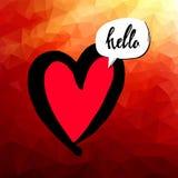 心脏传染媒介红色天标志元素爱象设计颜色 免版税库存图片
