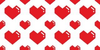 心脏华伦泰无缝的样式传染媒介隔绝了几何乱画墙纸背景桃红色 向量例证
