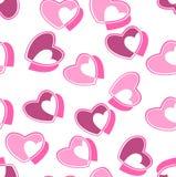 心脏华伦泰样式传染媒介例证 免版税库存照片