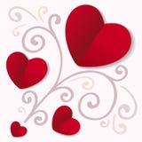 心脏卡片 免版税库存图片