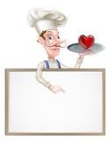 心脏厨师标志 免版税图库摄影