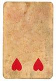 心脏古色古香的纸牌使用了纸背景 免版税图库摄影