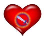 心脏和剑 免版税库存图片