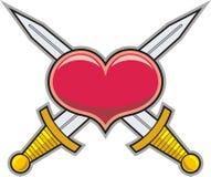 心脏和剑 库存图片