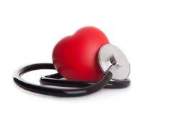 心脏和听诊器 库存图片