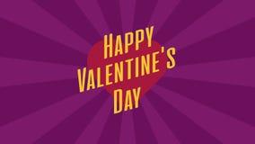 心脏和文本Valentins天 E 股票视频