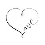 心脏和爱标志 库存照片