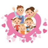 心脏和父母和孩子 免版税图库摄影