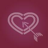 心脏和箭头标志 免版税库存图片
