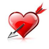 心脏和箭头 免版税库存图片