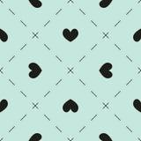 心脏和破折号样式 库存照片