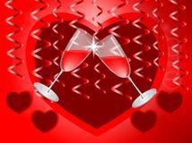 心脏和玻璃 库存例证