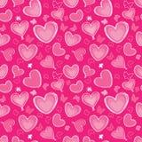 心脏和蝴蝶无缝的背景在vintag 免版税图库摄影