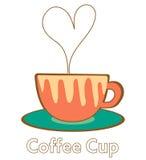心脏咖啡杯 皇族释放例证