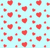 心脏在华伦泰` s天仿造 免版税库存图片