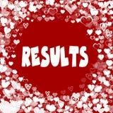 心脏在红色背景构筑与结果发短信 免版税库存图片