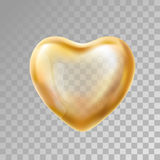 心脏在背景的金气球 库存照片