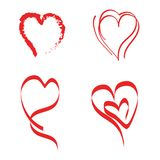 心脏导航爱情故事标志刷子样式 库存例证