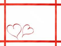 2心脏平的框架 免版税图库摄影
