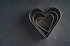 心脏形状切削刀 免版税库存照片