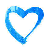 心脏形状刷子冲程框架 库存图片