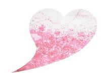 心脏形状婚姻的,情人节,水彩绘画爱护树木 库存照片