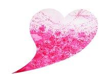 心脏形状婚姻的,情人节,水彩绘画爱护树木 库存图片