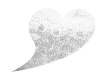 心脏形状婚姻的,情人节,水彩绘画爱护树木 免版税库存图片