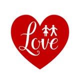 心脏形状标志 库存例证