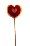心脏形状糖果棍子 库存图片