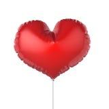 心脏形状红色党气球 在空白背景 免版税库存图片