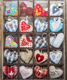 心脏形状纪念品 库存照片