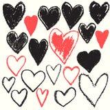 心脏形状纹理背景 库存照片