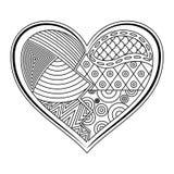 心脏形状纹身花刺装饰品 向量例证