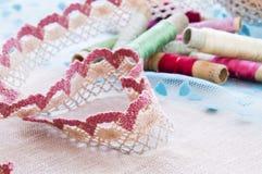 心脏形状鞋带 免版税库存图片