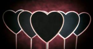 心脏形状黑板 图库摄影