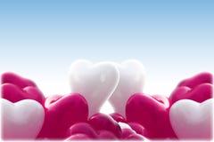心脏形状baloons 库存图片