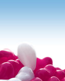 心脏形状baloons 免版税库存图片