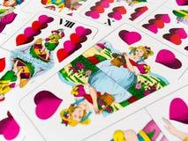 心脏德国纸牌一点  免版税图库摄影
