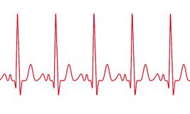 心脏心电图脉冲传染媒介心跳 向量例证